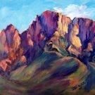 "PRIZE WINNER: ""Catalina Study#3 Original Landscape Plein-Air Mountains by Geri Acosta"