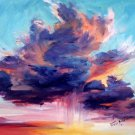 "DRAMATIC: ""Arizona Sky"" An Original Impressionist Oil Painting by Colorest Geri Acosta"