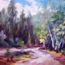"""Impression of Fall"" Original plein-air landscape oil painting by Geri Acosta"