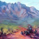 """Catalina Cactus"" An original impressionistic mountain landscape by colorest Geri Acosta"