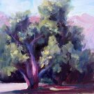 """Tree Study"" Original plein-air landscape oil painting by colorest Geri Acosta"