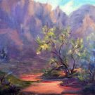"""Path To Somewhere"" Original Oil Arizona Landscape by Geri Acosta"