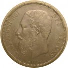 Belgium 1870 5 Francs XF