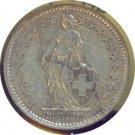 Switzerland 1944B 2 Francs VF