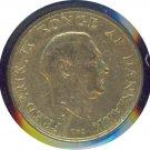 Denmark 1957 1 Krone XF