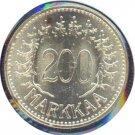 Finland 1958H 200 Markaa BU
