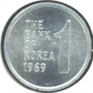 South Korea 1969 1 Won BU