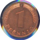Germany 1950 J Pfennig BU