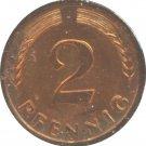 Germany 1965 J 2 Pfennig BU