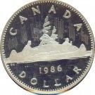Canada 1986 Proof Dollar