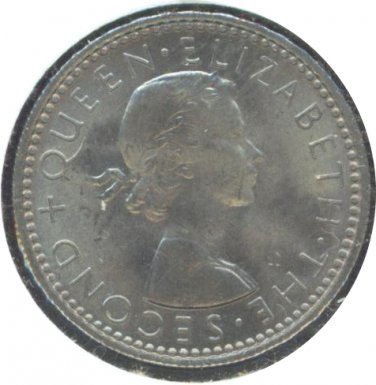 New Zealand 1960 6 Pence Unc