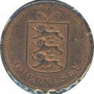 Guernsey 1889H 1 Double Unc