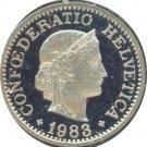 Switzerland 1983 10 Rappen Proof