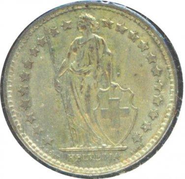 Switzerland 1960 1/2 Franc UNC