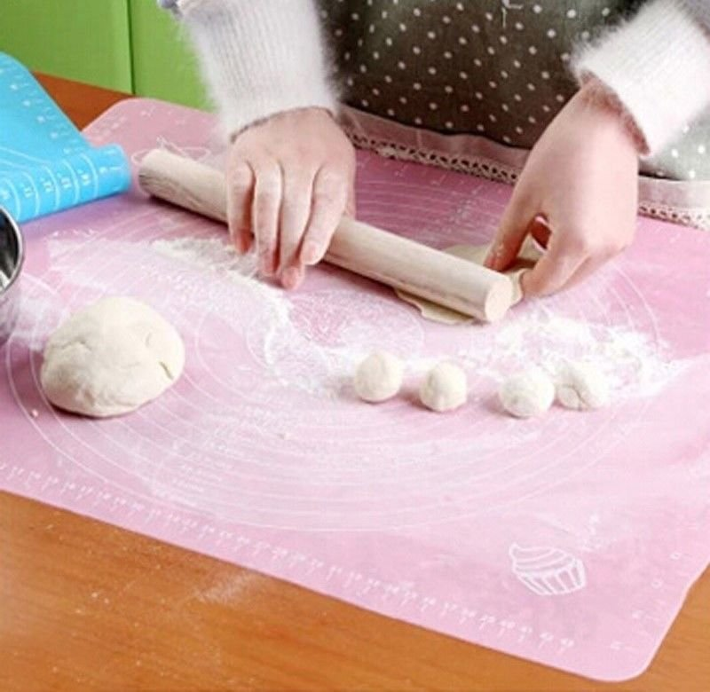 Sale Large Dough Rolling Baking Mat Cutting Fondant Pastry Cake DIY Accs Kitchen Tools Blue Pink