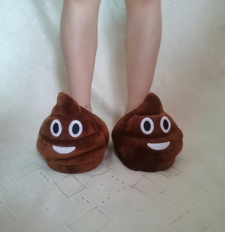 35-41 Funny Shit Shit Poop Emoji Slippers Home Accs FamilyWear Creative Gifts Women's Men's Shoes