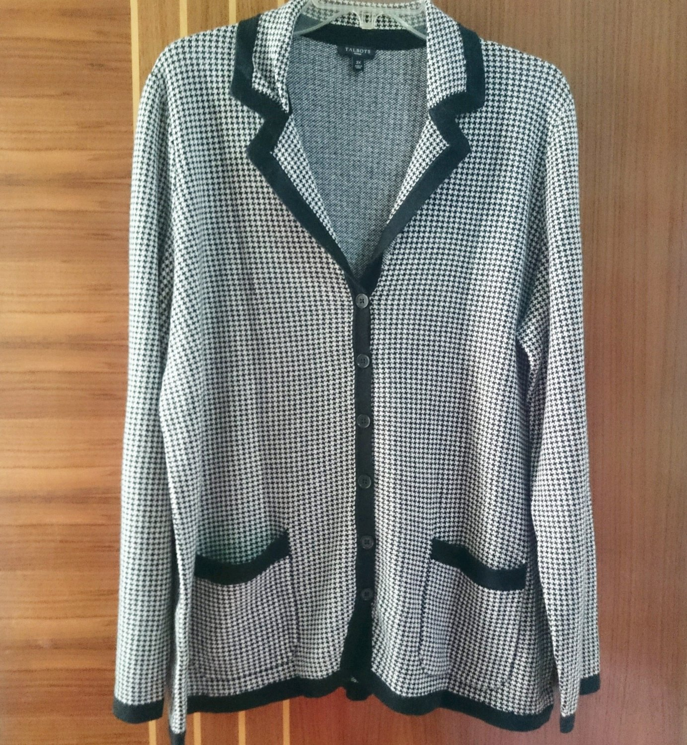 On sale Women's Casual Sweaters Plus Size 2X Talbots Coat 120% Brand new Jacket Black Free Shipping
