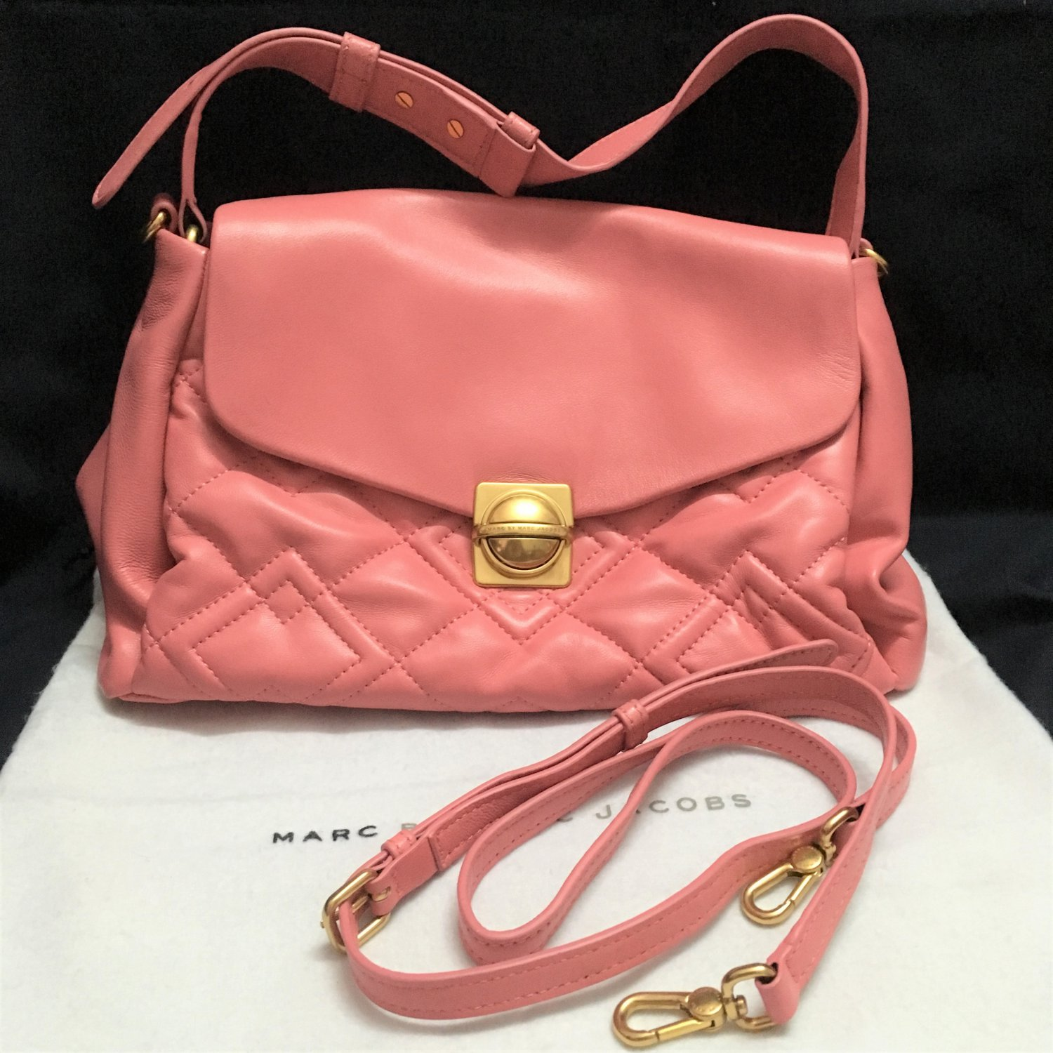 Marc by Marc Jacobs Handbags Vintage Shoulder Bag Sheep Leather Large Cherry Pink $548 Free Shipping
