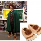 On sale MEN Women Slippers Hairy Hobbit Feet Big Feet Home Slipper Creative Gift 35-41 Cosplay shoes