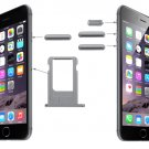 Original Card Tray & Volume Control & Screen Lock  & Mute Switch Vibrator Key Kit for iPhone 6(Grey)