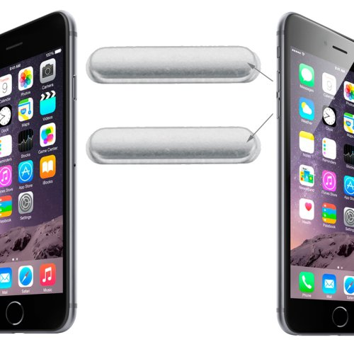 Original Volume Control Key for iPhone 6 & 6 Plus(Silver)