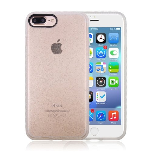 iPhone 7 Plus Glitter Powder Drop-proof Protective Back Cover Case (Gold)