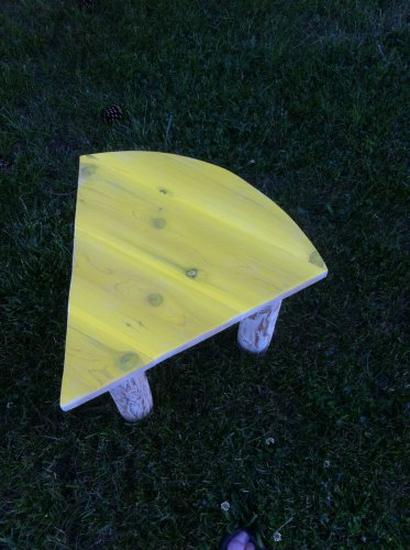 Cheese head table, cheesehead coffee table, cheesehead outdoor table, Wisconsin table, CH01799