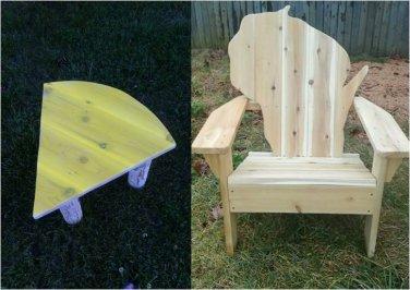 Wisconsin adirondack chair, Wisconsin chair, Wisconsin shape chair, Wisconsin back chair, WCSC30559