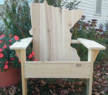 Minnesota adirondack chair, Minnesota chair, Minnesota wood chair, Minnesota shape chair, Minnesota