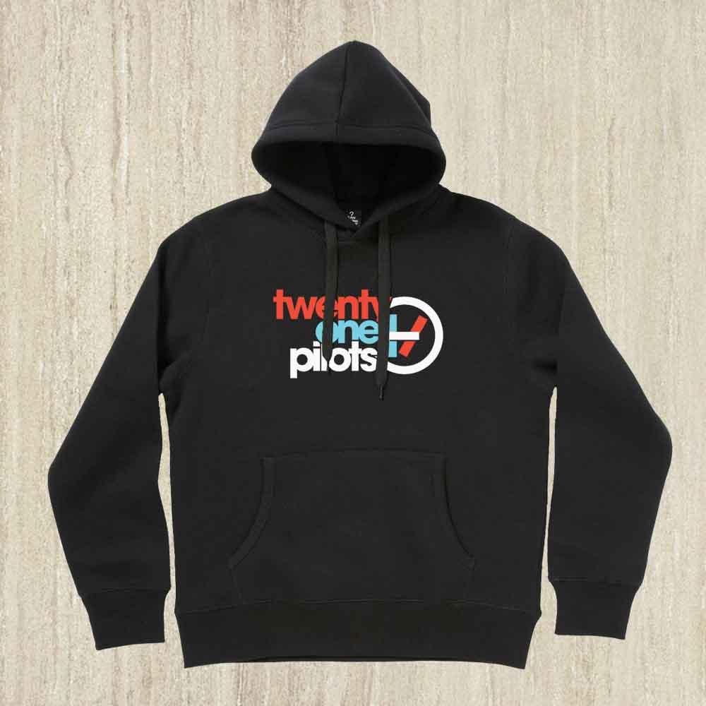 Twenty One Pilots, Hoodie Twenty One Pilots, Twenty One Pilots Logo, Color Black,Size S-2XL