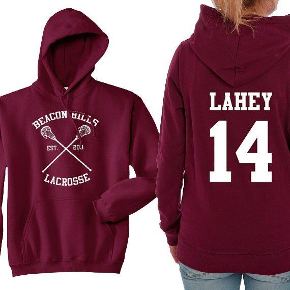 Teen Wolf Hoodie, Beacon Hills Lacrosse Hoodie, Lahey 14