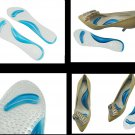 1Pair Gel Orthotic Massaging Insoles Insert for high heeled women Ladies shoe