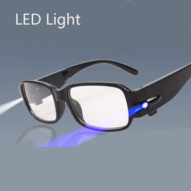 Unisex Rimmed Reading Eye Glasses Eyeglasses Spectacal With LED Light