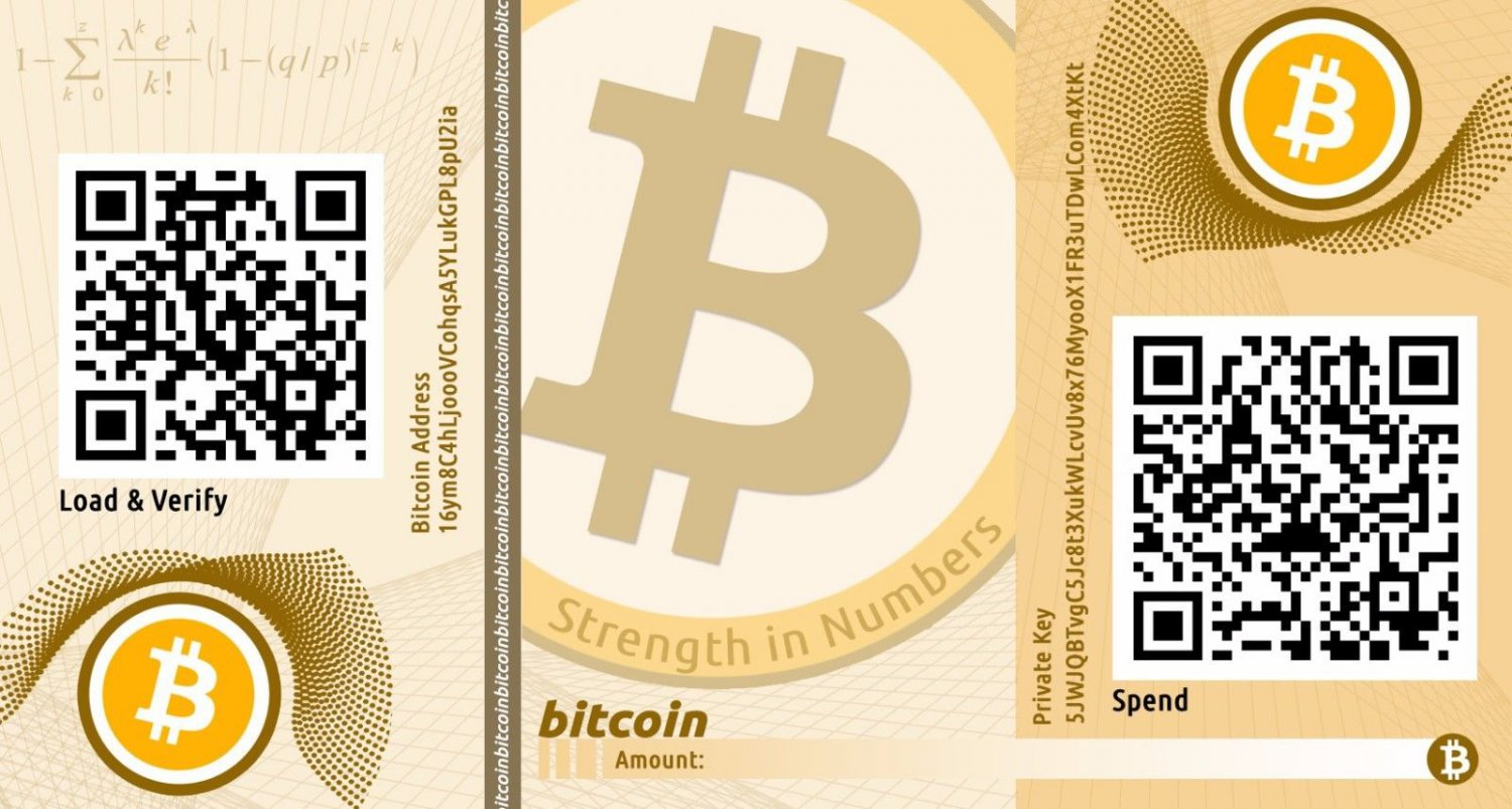 Bitcoin Paper Wallet for Offline Cold Stoage of BTC
