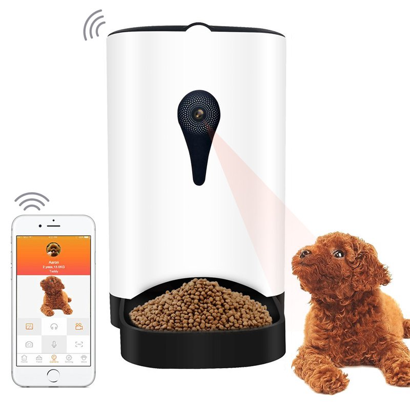 Automatic Food Dispenser - App Control - 1MP Camera - Speaker - iOS And Android