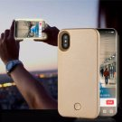 Luminous Bright LED Strobe Light Up Selfie Power Case Cover For Apple iPhone X  Champagne Gold
