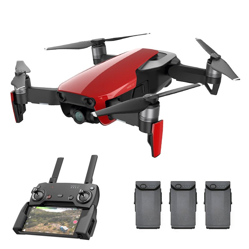 dji mavic air flame red drone fly more combo 4k camera. Black Bedroom Furniture Sets. Home Design Ideas