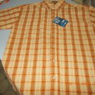 Canyon Guide Outfitters Men's Burned Orange Plaid Cotton Shirt Sz M