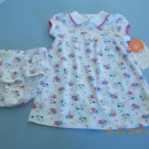NEW 2 Pc. Charter's Baby Girls Floral Super Cute Dress & Diaper Cover 6mo NWT