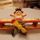 DAVID FRYKMAN 1996 DF 1113 SANTA IN AIRPLANE FIGURINE