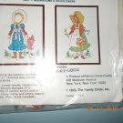 1975 Vtg Family Circle BEST FRIENDS Crewel Embroidery Kit Girls Bonnet Doll