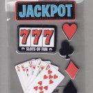 Sandylion Essentials Scrapbooking Stickers JACKPOT Las Vegas Poker Slots Gambling 3D - EL01
