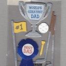 Sandylion Essentials Scrapbooking Stickers DAD World's Greatest Best Dad Golf Trophy 3D - EL03