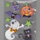 Sandylion Essentials Scrapbooking Stickers HALLOWEEN spooky ghost pumpkin cat bat 3D - EL05