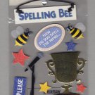Sandylion Essentials Scrapbooking Stickers SPELLING BEE educational winner trophy prize 3D - EL09