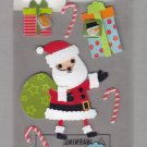 Sandylion Essentials Scrapbooking Stickers SANTA CHRISTMAS GIFT candy cane present hohoho 3D - EL10