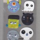 Sandylion Essentials Scrapbooking Stickers SCARY HEADS monster ghost halloween cat 3D - EL16