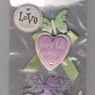 Sandylion Essentials Scrapbooking Stickers LITTLE FAIRY love fairy tale garden butterfly 3D - EL26