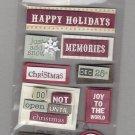 Sandylion Essentials Scrapbooking Stickers HOLIDAY WORD BLOCKS season greetings christmas 3D - EL27