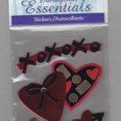 Sandylion Essentials Scrapbooking Stickers VALENTINE CHOCOLATES heart love 3D - ES01